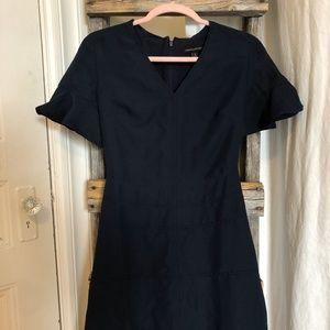 BANANA REPUBLIC Navy Flutter Sleeve Dress